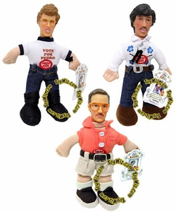 Napoleon Dynamite Set of Three 6 Inch Plush Figure Talking Dolls