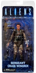 NECA Aliens Series 2 Action Figure Sgt. Windrix New!