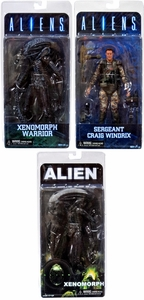 NECA Aliens Series 2 Set of 3 Action Figures [Windrix, Blue Warrior & 1979 Alien] New!