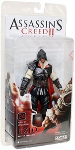 NECA Assassin's Creed 2 Series 1 Action Figure Black Ezio [Black Cloak] Damaged Package, Mint Contents!