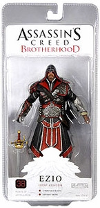 NECA Assassin's Creed 2 Series 2 Exclusive Action Figure Ezio EBONY [Hooded]