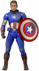 NECA Marvel Quarter Scale Action Figure Battle Damaged Captain America Pre-Order ships August