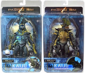 NECA Pacific Rim Series 3 Set of Both Ultra Deluxe Kaiju Action Figures [Trespasser & Battle Damaged Knifehead]
