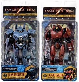 NECA Pacific Rim Set of Both RE-ISSUE Action Figures Crimson Typhoon & Striker Eureka [Jaegers]