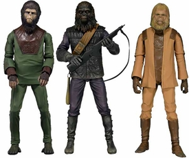 NECA Planet of the Apes Classic Series 1 Set of 3 Action Figures [Cornelius, Dr. Zaius & Gorilla Solider] Pre-Order ships July