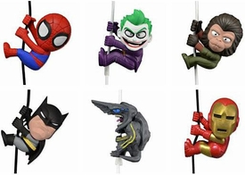 NECA Scalers Series 2 Set of 6 Mini Figures [Iron Man, Spider-Man, Knifehead, Batman, Joker & Cornelius]
