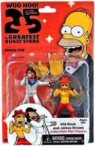 NECA Simpsons Series 1 Mini Figure 2-Pack Kid Rock & James Brown