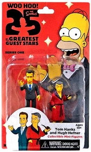 NECA Simpsons Series 1 Mini Figure 2-Pack Tom Hanks & Hugh Hefner