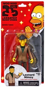 NECA Simpsons Series 3 Action Figure Leonard Nimoy New!
