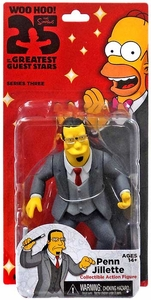 NECA Simpsons Series 3 Action Figure Penn Jillette New!