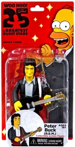 NECA Simpsons Series 3 Action Figure Peter Buck [R.E.M.] New!