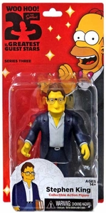 NECA Simpsons Series 3 Action Figure Stephen King New!