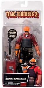 NECA Team Fortress 2 RED Series 3 Action Figure Engineer [In Game Virtual Item Redemption Code!]