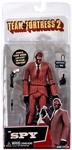 NECA Team Fortress 2 RED Series 3 Action Figure Spy [In Game Virtual Item Redemption Code!] New!