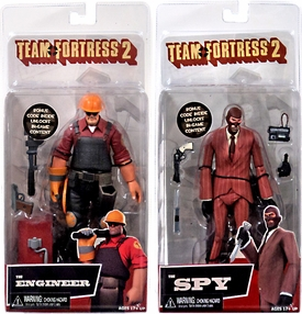 NECA Team Fortress 3 Set of Both RED Series 2 Action Figures [Engineer & Spy] New Hot!