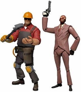 NECA Team Fortress 3 Set of Both RED Series 2 Action Figures [Engineer & Spy] Pre-Order ships August