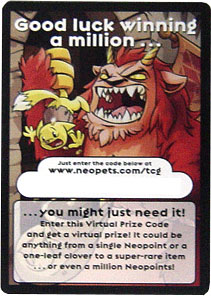 Neopets The Darkest Faerie Rare Item Prize Code Card