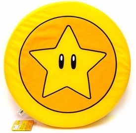 New Super Mario Brothers BanPresto 12 Inch 2-D Plush Cushion Star Coin