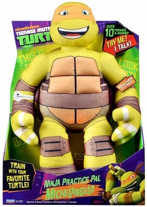 Nickelodeon Teenage Mutant Ninja Turtles 15 Inch Plush with Sound Ninja Practice Pal Michelangelo