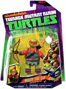 Nickelodeon Teenage Mutant Ninja Turtles Basic Action Figure Mikey the Elf [Live Action Role Play]