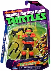 Nickelodeon Teenage Mutant Ninja Turtles Basic Action Figure Stealth Tech Michelangelo [Without Zip Line]