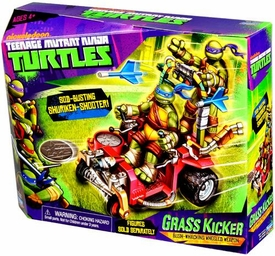 Nickelodeon Teenage Mutant Ninja Turtles Vehicle Grass Kicker [Bush-Whacking Wheeled Wheapon] New!