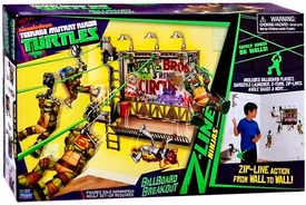 Nickelodeon Teenage Mutant Ninja Turtles Z-Line Ninjas Playset Billboard Breakout New!