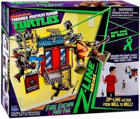 Nickelodeon Teenage Mutant Ninja Turtles Z-Line Ninjas Playset Fire Escape Free Fall New!