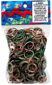 Official Rainbow Loom 600 Ct. Rubber Band Refill Pack Camouflage [Includes C-Clips!] Hot!