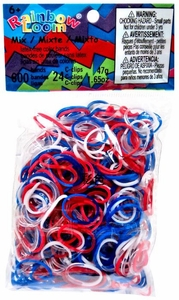 Official Rainbow Loom 600 Ct. Rubber Band Refill Pack *JELLY MIX* USA [Includes 25 C-Clips!]