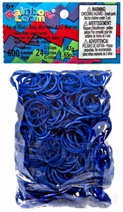 Official Rainbow Loom 600 Ct. Rubber Band Refill Pack Navy Blue [Includes 24 C-Clips!]