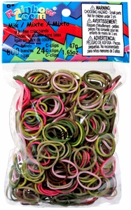Official Rainbow Loom 600 Ct. Rubber Band Refill Pack Pink Camouflage [Includes C-Clips!] Hot!