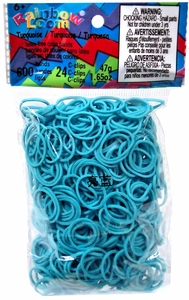Official Rainbow Loom 600 Ct. Rubber Band Refill Pack Turquoise [Includes 25 C-Clips!] MEGA Hot!