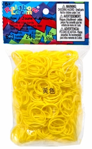 Official Rainbow Loom 600 Ct. Rubber Band Refill Pack Yellow [Includes 25 C-Clips!]