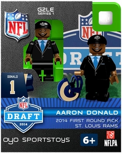 OYO Football NFL 2014 Draft First Round Picks Building Brick Minifigure Aaron Donald [St. Louis Rams]