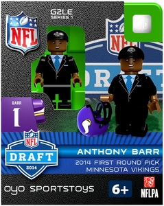 OYO Football NFL 2014 Draft First Round Picks Building Brick Minifigure Anthony Barr [Minnesota Vikings]