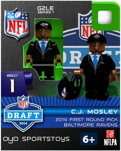 OYO Football NFL 2014 Draft First Round Picks Building Brick Minifigure C.J. Mosley [Baltimore Ravens]