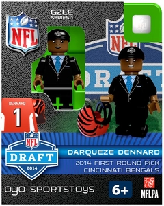 OYO Football NFL 2014 Draft First Round Picks Building Brick Minifigure Darqueze Dennard [Cincinnati Bengals]