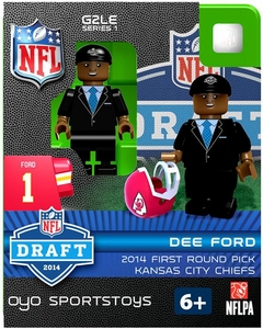 OYO Football NFL 2014 Draft First Round Picks Building Brick Minifigure Dee Ford [Kansas City Chiefs]