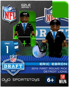 OYO Football NFL 2014 Draft First Round Picks Building Brick Minifigure Eric Ebron [Detroit Lions]