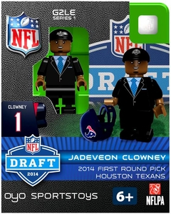 OYO Football NFL 2014 Draft First Round Picks Building Brick Minifigure Jadeveon Clowney [Houston Texans]