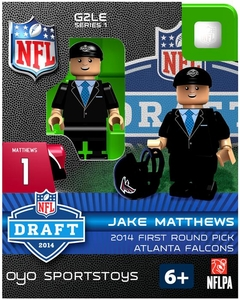 OYO Football NFL 2014 Draft First Round Picks Building Brick Minifigure Jake Matthews [Atlanta Falcons]