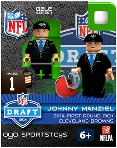 OYO Football NFL 2014 Draft First Round Picks Building Brick Minifigure Johnny Manziel [Cleveland Browns]