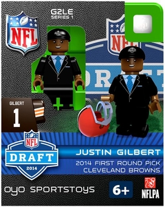OYO Football NFL 2014 Draft First Round Picks Building Brick Minifigure Justin Gilbert [Cleveland Browns]