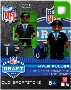 OYO Football NFL 2014 Draft First Round Picks Building Brick Minifigure Kyle Fuller [Chicago Bears]