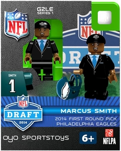 OYO Football NFL 2014 Draft First Round Picks Building Brick Minifigure Marcus Smith [Philadelphia Eagles]