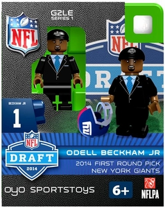 OYO Football NFL 2014 Draft First Round Picks Building Brick Minifigure Odell Beckham Jr. [New York Giants]