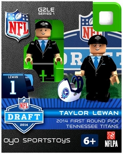 OYO Football NFL 2014 Draft First Round Picks Building Brick Minifigure Taylor Lewan [Tennessee Titans]