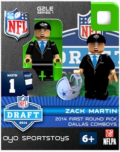 OYO Football NFL 2014 Draft First Round Picks Building Brick Minifigure Zack Martin [Dallas Cowboys]