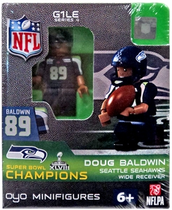 OYO Football NFL Building Brick Minifigure Doug Baldwin [Seattle Seahawks] Super Bowl XLVIII Champions